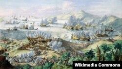 Ромейн де Хоге. Морское сражение нидерландской и французской эскадр за остров Тобаго в 1677 году