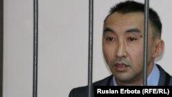 Гражданский активист Болатбек Блялов в суде. Астана, 13 января 2016 года.