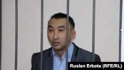 Активист Болатбек Блялов в суде. Астана, 13 января 2016 года.