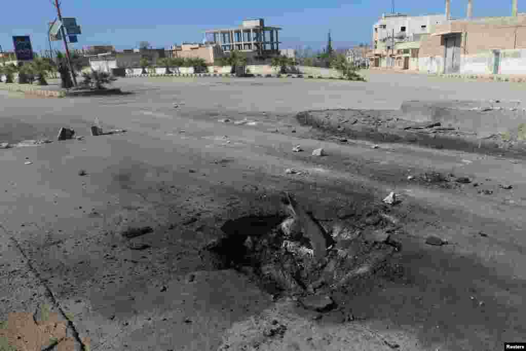Улы зат тараған аймақтағы бұл шұңқыр әскери ұшақтан тасталған бомбаның орны болуы ықтимал.