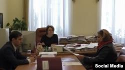 Эльвира Садкина на встрече с руководством Госжилфонда РТ