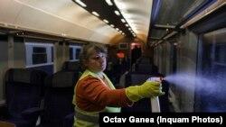 Garniturile de tren vor fi salubrizate și igienizate înainte de plecarea în fiecare cursă