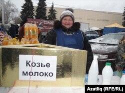 Кәҗә сөтен сатучы Наилә Хәкимова