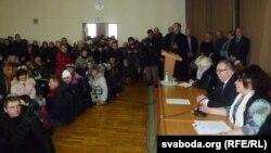 Прадпрымальнікі Віцебска сустракаюцца з уладамі. Віцебск, 28 студзеня 2016 году