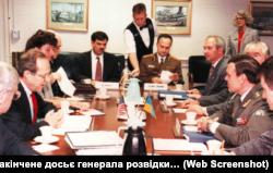 Переговори в Пентагоні між Міністром оборони України Костянтином Морозовим і першим заступником міністра оборони США Вільямом Перрі у 1993 році