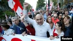«Ազգային միացյալ շարժում» կուսակցության աջակիցների ցույցը Թբիլիսիում, 5-ը հոկտեմբերի, 2016թ․