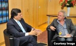 Cu Jose Manuel Barroso la Bruxelles (Sursa: Serviciul de Presă UE)