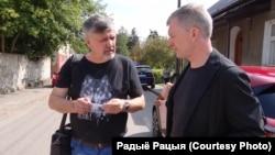 Ян Максімюк і Сяргей Шупа, куратары праекту «Літаратары накарантыне»