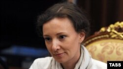 Russian Children's Ombudswoman Anna Kuznetsova (file photo)