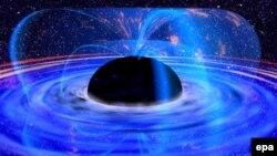 Галактиканын өзөгүндөгү MCG 6-30-15 аталыштагы кара тешик. Сүрөт 2001-жылы тартылган