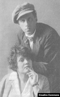 Мейерхольд и З.Райх, фото 1924