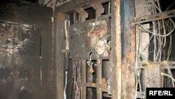 Өртенген үйдің ішкі қабырғасы. Көрнекі сурет.