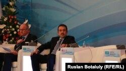 Премьер-министр Казахстана Карим Масимов на конференции стран Центральной и Южной Азии по противодействию насильственному экстремизму. Астана, 29 июня 2015 года.