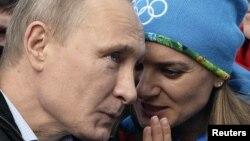 Владимир Путин ва Елена Исинбоева