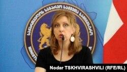 Заместитель министра иностранных дел Грузии Нино Каландадзе
