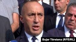 Рамуш Харадинай на пресс-конференции в Приштине, 19 июля 2019
