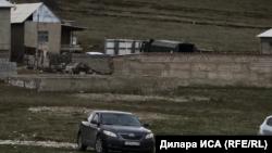 Недалеко от дома, где прогремел взрыв. Шымкент, 11 февраля 2019 года.