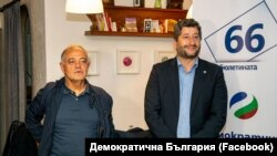 Атанас Атанасов и Христо Иванов по време на предизборната кампания