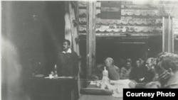 Суд над Унгерном. Выступает Е. Ярославский, 1921 год