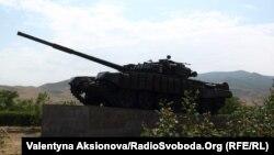 Нагорный Карабах - Мемориал танку, который первым вошел в город Агдам