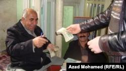 Iraq - Money exchange, Sulaymania, 06Feb2012