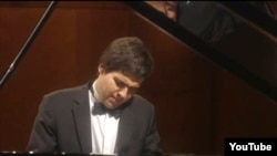 Vadym Kholodenko performs at the Van Cliburn International Piano Competition.