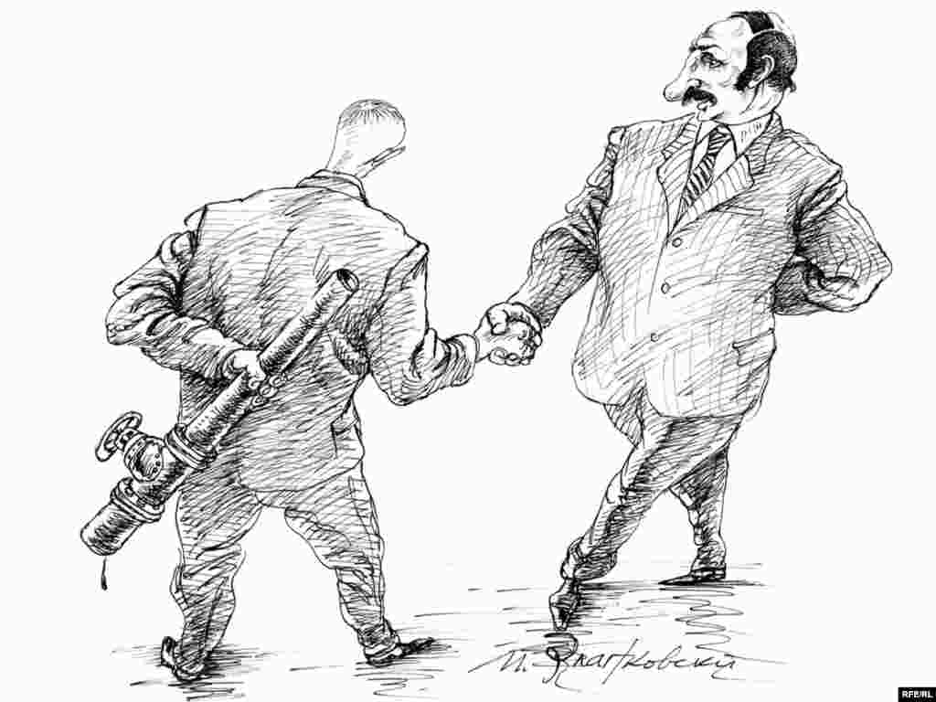 """Сидели, бывало, на трубе. Михаил Златковский. """"Разговор об углеводородах"""". Художник и без газа не может, и союзное государство с Белоруссией ему жалко"""