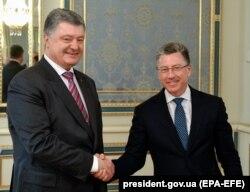 Встреча президента Петра Порошенко с Куртом Волкером в Киеве 16 мая 2018 года