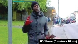 Michael Adebolajo was seen shortly after the murder wielding a knife and a cleaver.
