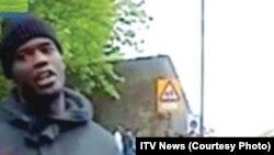 Мишель Адеболаджо - на месте убийства британского солдата. 22 мая 2013 г.