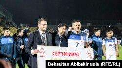 Кыргыз футболчулары жеңишке жетти