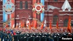 Қызыл алаңдағы әскери парад. Мәскеу, 9 мамыр 2017 жыл.