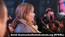 Сандра Рулофс на «Марші за імпічмент». Київ, 10 грудня 2017 року