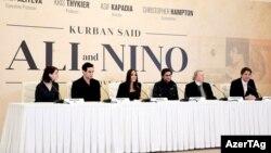 «Əli və Nino» filminin yaradıcı heyəti ilə mətbuat konfransı - 22 fevral 2015