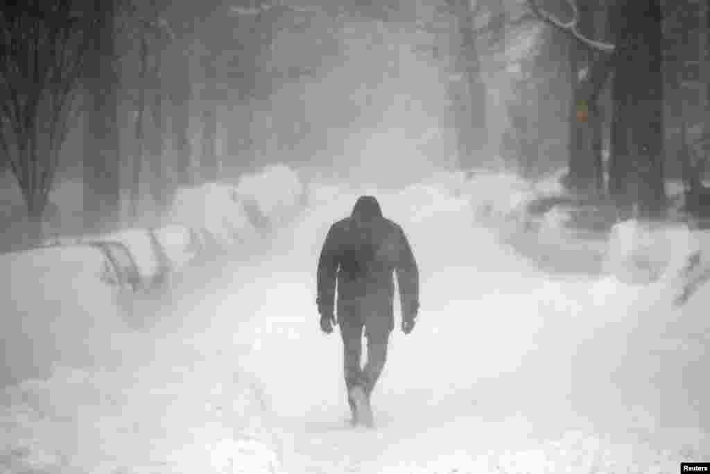 Stuhi e madhe bore në Shtetet e Bashkuara të Amerikës, 23 janar 2016...