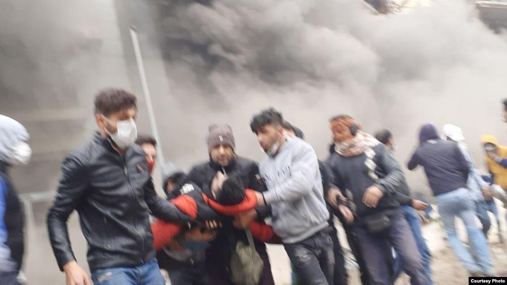 تصویری از اعتراضهای آبان ۹۸ در شیراز