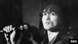 Виктор Цой, советский рок-музыкант, автор песен. Основатель и лидер рок-группы «Кино».