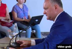 Igor Dodon la întîlnirea cu presa, Condrița