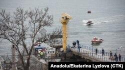 Спасательные службы на месте падения обломков самолета Ту-154, потерпевшего крушения над Черным морем. 25 декабря 2016 года.