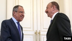 Russian Foreign Minister Sergei Lavrov discussed the frozen conflict in Nagorno-Karabakh with President Ilham Aliyev on December 2. (file photo)