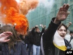 Moskvada ultra millətçilərin etiraz aksiyası