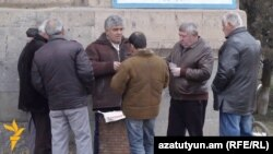 Armenia - Unemployed men play cards in Armavir province, 11Feb2016.
