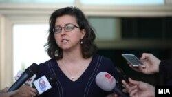 Микаела Швајзер Блум, вршителката на должноста амбасадор на САД во Македонија