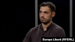 Denis Cenușă, la o dezbatere în studioul Europei Libere la Chișinău