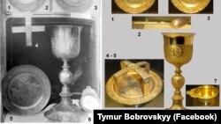 Предмети з ризниці Софійського собору в Києві, які були вивезені з України до Росії й нині перебувають у Державному історичному музеї Росії