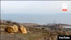 «Энергомост» в Крым, скриншот видео с сайта «Керчь.ФМ»