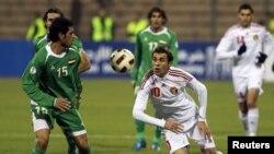 مباراة سابقة للمنتخب العراقي أمام الأردن في عمّان