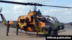 Թուրքական AH-1W Super Cobra ռազմական ուղղաթիռ Ադրբեջանի ռազմակայաններից մեկում, արխիվ