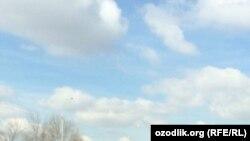 Ўзбек милицияси хизмат мотоциклида