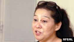 """Тогжан Кизатова, председатель правозащитного общественного объединения """"Демос"""". Атырау, 19 сентября 2008 года."""